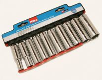Hilka 10 pce Deep Metric Sockets - 1/2""